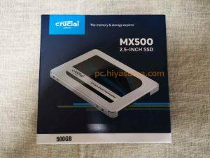 Crucial MX500の500GBの外見
