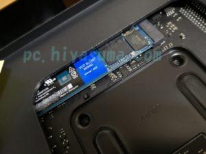 SN500とパソコンケースの隙間