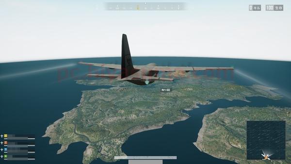 PUBG LITEのゲームスタートは飛行機からです。