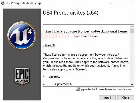 UE4 Prerequisites x64もインストール