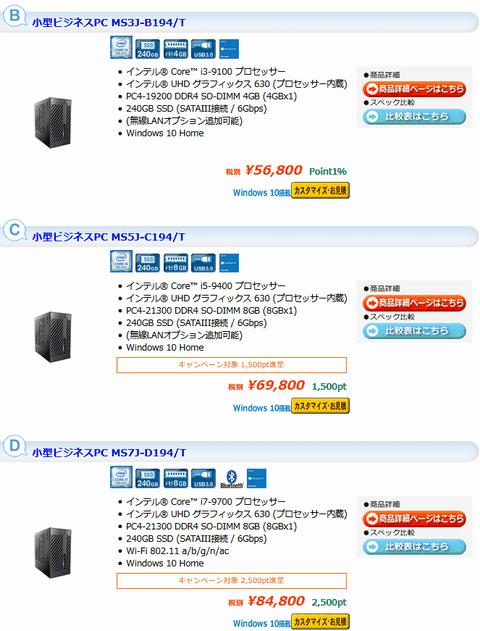 ツクモの小型PC BTO Deskmini H310とA300