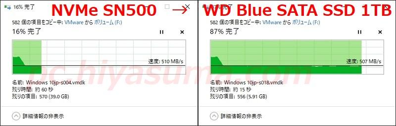 WD Blue 3D 1TB WDS100T2B0Aのファイルコピーをテストしたが速度低下も少なく良い結果になる