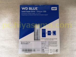 WD Blue 3D 1TB WDS100T2B0Aの箱の裏