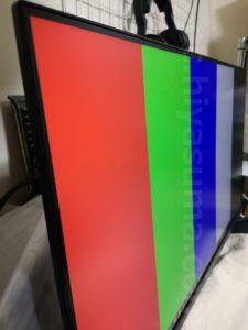 VG249Q1R-Jを斜めから見ても色の変化が少ない